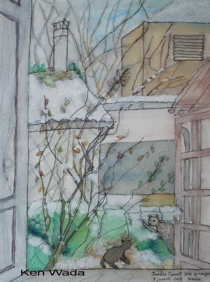 ken-wada-le-jardin-carnot-sous-la-neige