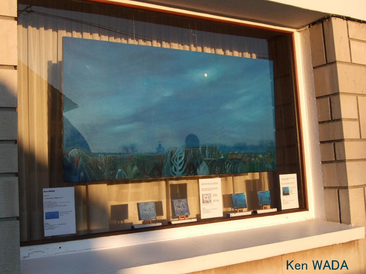 """""""La nuit bleue de Maintenon 5"""" dans la grande vitrine"""