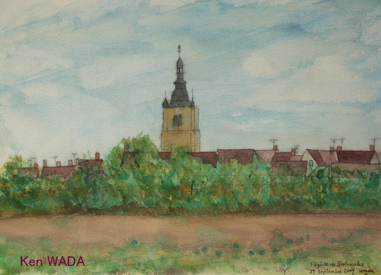Paysage du Perche 4  -L'Eglise de Bretoncelles