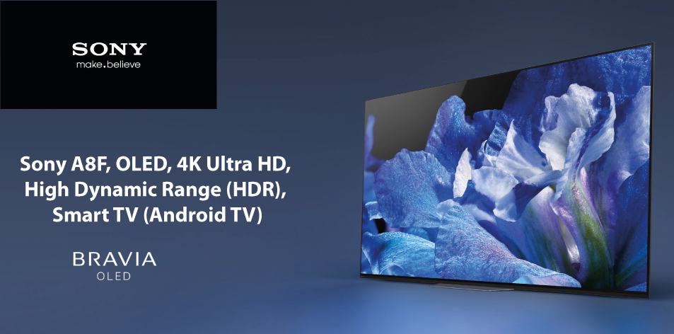 Sony A8F, OLED, 4K Ultra HD, High Dynamic Range (HDR), Smart TV (Android TV)