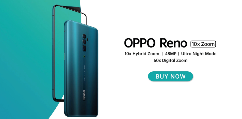 OPPO Reno 10x Zoom- 48MP OIS Camera, 8GB Ram, 256GB Internal Memory- 88,995Kshs