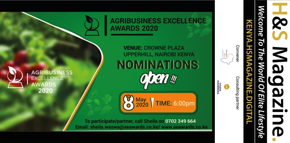 2nd Annual Agribusiness Excellence Awards-2020- 8th Of May 2020, Crowne Plaza Hotel, Nairobi