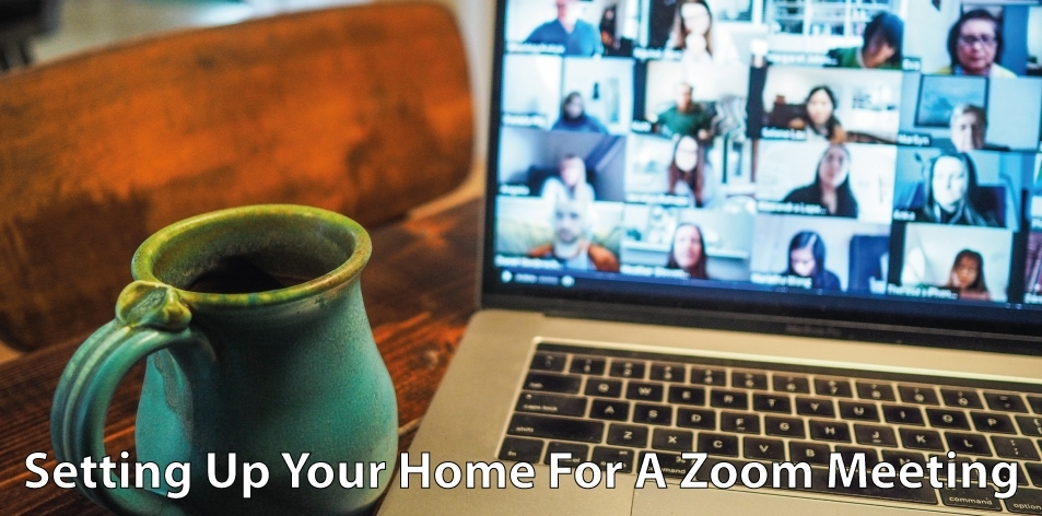 home space for a zoom meeting