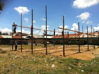 beginning the timber frame