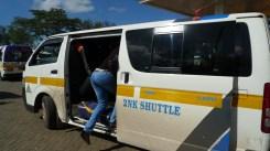 Boarding the matatu