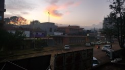 Kitale town at sunset