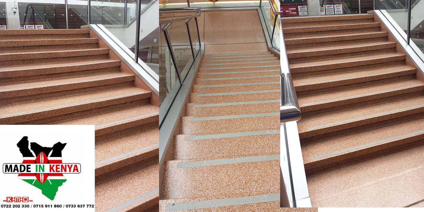 Terrazzo Staircase Treads & Riser - Kenya Marble Quarries Ltd KMQ