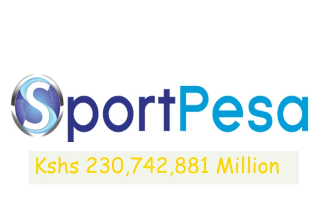 The Winner of Sportpesa Kshs 230,742,881 mega jackpot in Kenya
