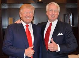 President Donald Trump pictured with younger brother Robert Trump