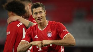 Robert Lewandowski opened his account for the season from the penalty spot
