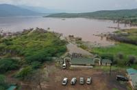 Swelling waters of Lake Baringo causing alarm