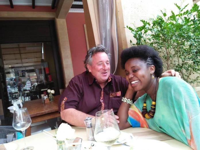 KENYAN Lady flaunts romantic photos of her 58 years old GERMAN husband