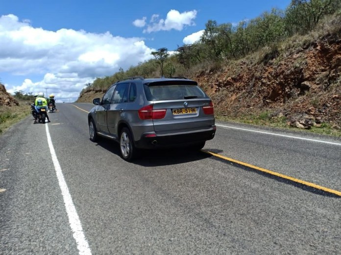 See Photos Of The Mysterious BMW That Was Abandoned On The Road In Naivasha