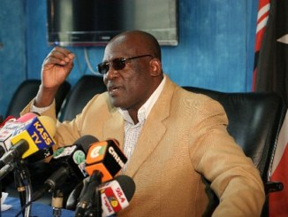 Machakos Senator Johnstone Muthama is chased away like a dog