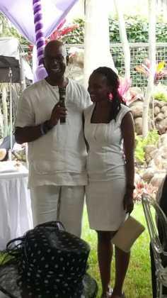 Photos - Safaricom boss Bob Collymore marries Wambui Kamiru