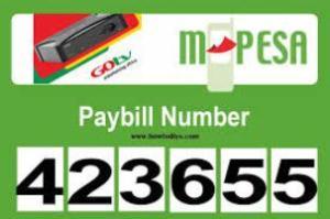GOtv Kenya Payment via M-PESA