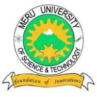 Meru University of Science and Technology Courses