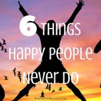 Things Happy People Never Do