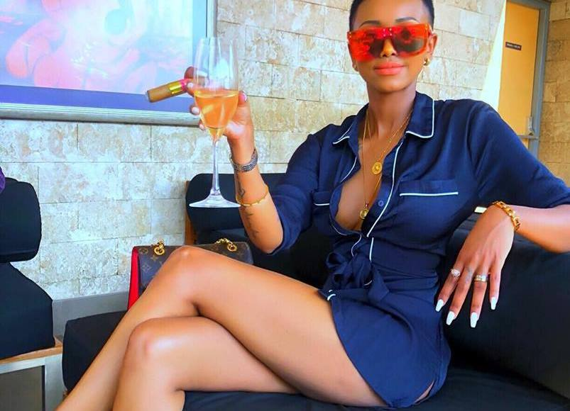 , PHOTO- Huddah Causes Online Uproar After Displaying Her Boobs