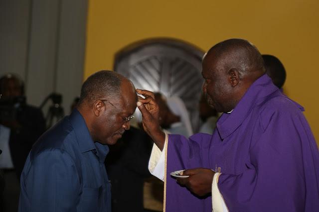 Image result for John Pombe Magufuli in church