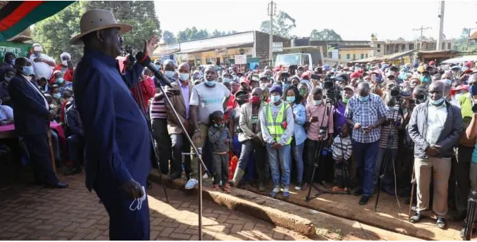 Raila blasts Ruto for double standards with the BBI