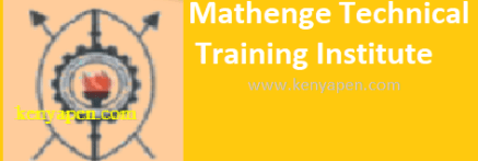 Mathenge Technical Training Institute Application Form