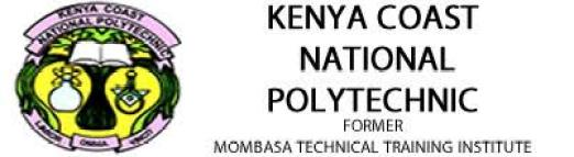 Mombasa Technical Training Institute Application Form