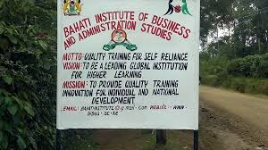 Bahati Institute of Business and Administration Studies Admission Letter
