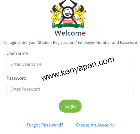 Kabete Technical Training Institute Student Portal Login