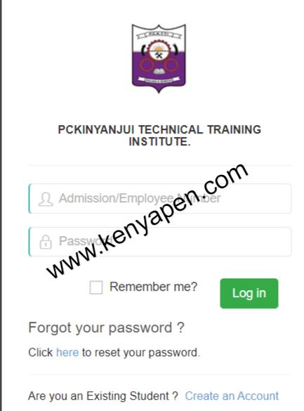 PC Kinyanjui Student Portal Login