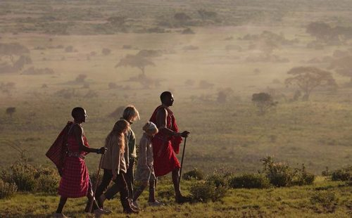 Cultural walk in Amboseli National Park.