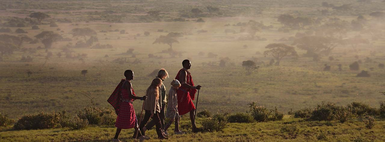 Cultural walk in Amboseli National Park.