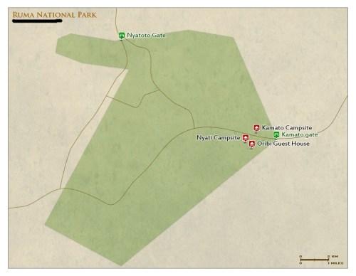 Ruma National Park map