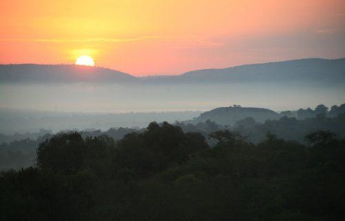landscapes in lake mburo national park