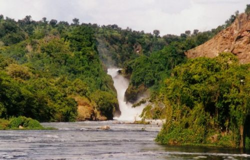 powerful water falls Murchison Falls National Park