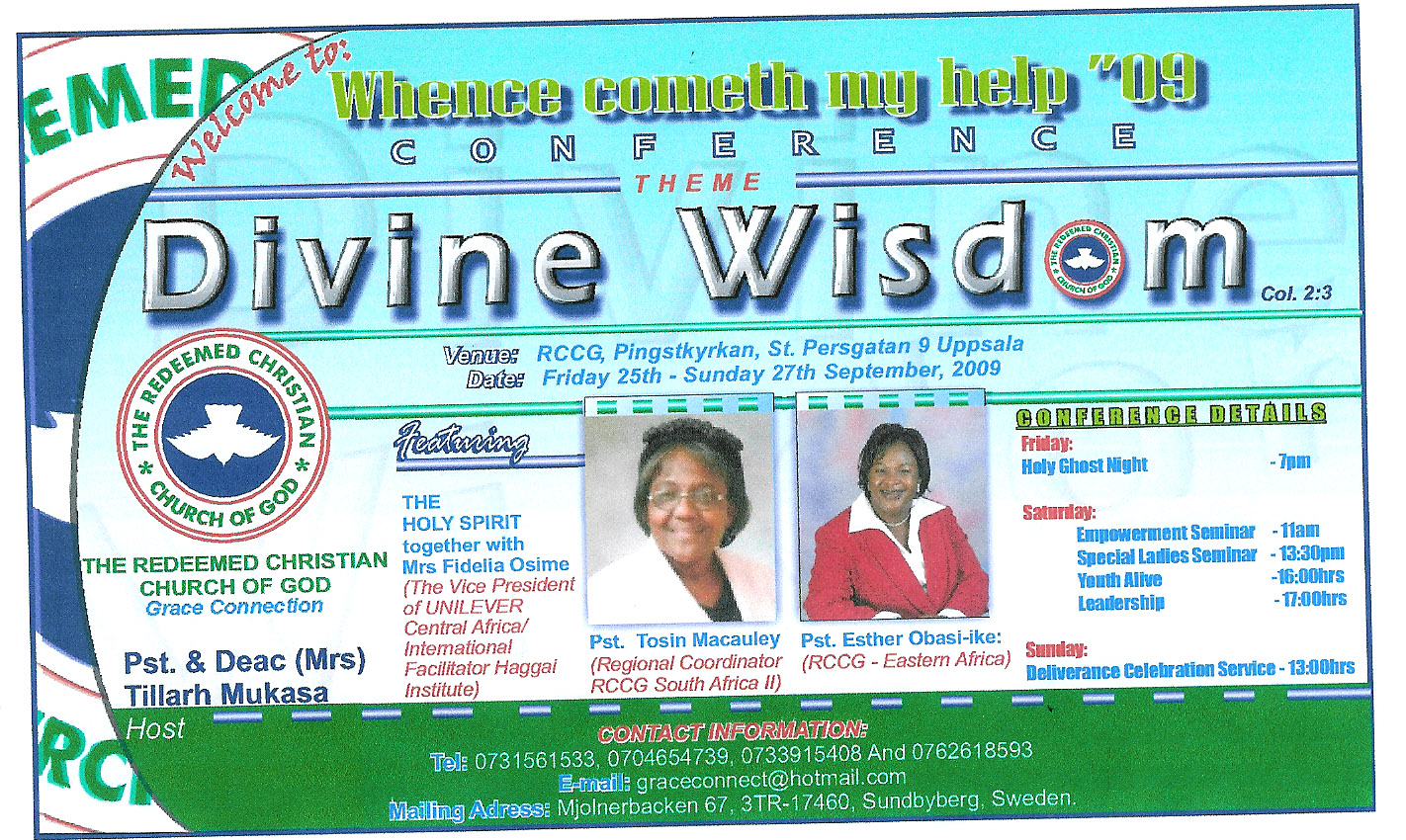 Invitation To Christian Conference By Pastor Tillarh