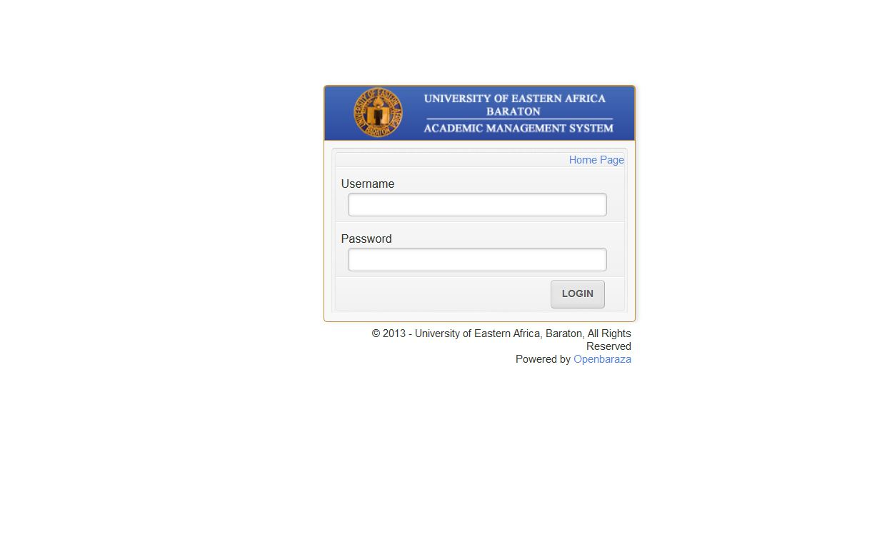 Baraton university online registration for admission for private sponsored students