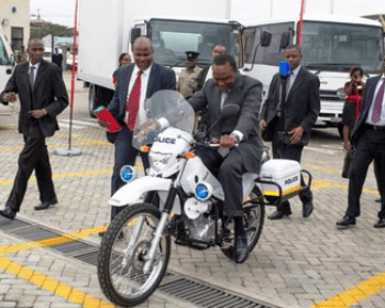 President Uhuru Kenyatta Riding a MotorBike