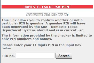 kra pin checker