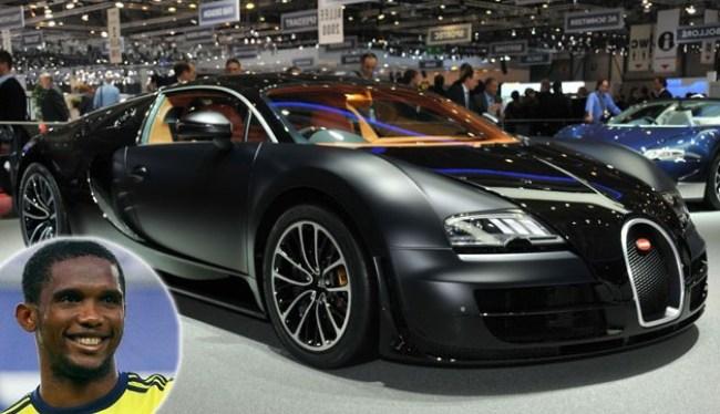 Samuel Etoo Buggati Veyron