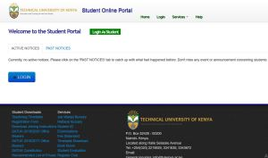 KUCCPS Technical University of Kenya admission letters
