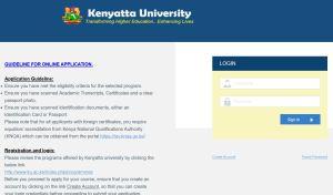Kenyatta university online intake application