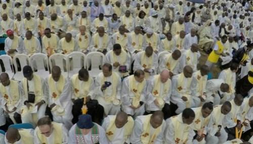 pope in kenya priests