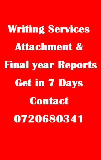 attachment and internship reports