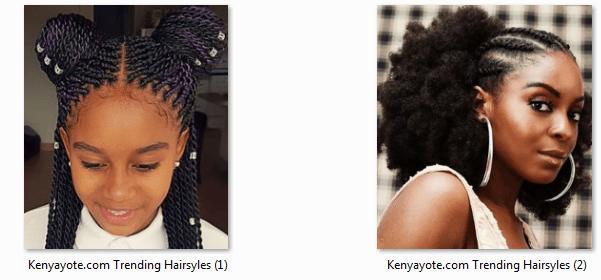 Photos Of Best And Trending Hairstyles In Kenya 2017