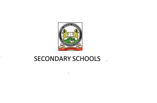 Kwale County and Sub County Secondary schools, High
