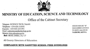 secondary school fees structure in kenya