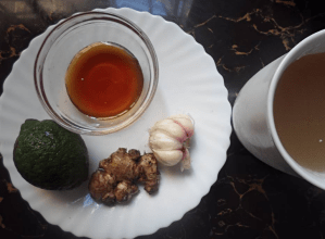 ending cold with Ginger, Garlic, Honey and lemon; avoid pharmaceutical drugs
