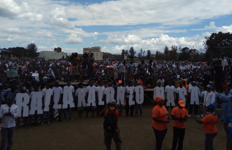 Raila, Kalonzo Supporters in Nakuru NASA rally