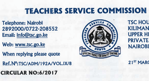 TSC List of Retired Teachers cases passed to Treasury for pension payment, 2017